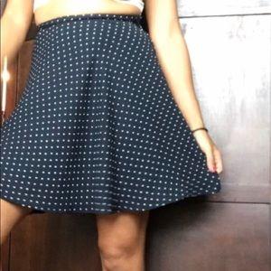H&M polkadot skater skirt
